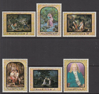 1968 Mauritius Fine Art Prints Set Of 6 MNH - Mauritius (1968-...)