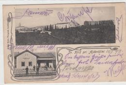 SV.KRIŽ - CESTA,  PRI AJDOVŠČINI 1914 RAILWAY STATION BAHNHOF ŽELEZ. POSTAJA  RAZGLEDNICA POSTCARD - Slovénie