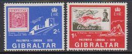 Gibraltar 1970 Philympia London 2v ** Mnh (41485Q) - Gibraltar