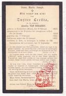 DP EZ Amelia Van Bogaert - Zr. Cecilia ° Nieuwkerken-Waas St.-Niklaas 1825 † Klooster Josephienen Gent 1903 - Images Religieuses