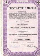 CHOCOLATERIE MODELE ANTWERPEN ANVERS 10 Parts Sociale - Industry