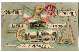 CPA 80 AMIENS Honneur à L' Armée - Patrie 1907 - Amiens