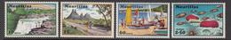 1971 Mauritius Tourist Publicity Waterfall, Rainbow, Beaches, Mountains Set Of 4 MNH - Mauritius (1968-...)