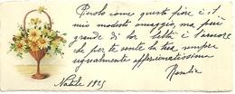 """1996 """" BIGLIETTO AUGURALE- ANNI '20 - CESTINO DI FIORI """" BIGLIETTO ILL. ORIG. - Vecchi Documenti"""