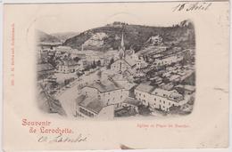 Luxembourg  Larochette  Carte Precurseur Cachet Affranchissement 1901 Eglise Et Place Du Marche - Larochette