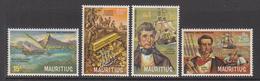 1972 Mauritius  Pirates & Privateers Set Of 4 MNH - Mauritius (1968-...)