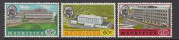1973 Mauritius 5th Anniv Of Independence University & Bank Buildings Tea Plantation Set Of 3 MNH - Mauritius (1968-...)