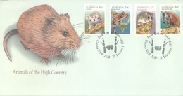 AUSTRALIA  - FDC - 21.2.1989 - ANIMALS OF THE HIGH COUNTRY - Yv 1147-1150 - Lot 18657 - Premiers Jours (FDC)
