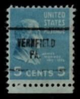 "USA Precancel Vorausentwertung Preo, Locals ""VERNFIELD"" (PA). - Etats-Unis"