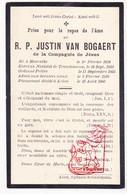 DP Im. Pieuse - EH Priester Justin Van Bogaert ° Moerzeke Hamme 1834 † Aarlen Arlon 1905 / Noviciaat Drongen Gent - Images Religieuses