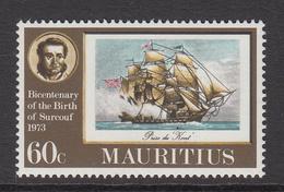 1974 Mauritius Tall Ship, Privateer Set Of 1 MNH - Mauritius (1968-...)