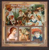 CONGO  Painting, Renoir  Sheetlet Perf. - Fantasie Vignetten
