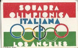FOGLIETTO CHIUDILETTERA  SQUADRA OLIMPIONICA ITALIANA -OLIMPIADE DI LOS ANGELES - Erinnophilie