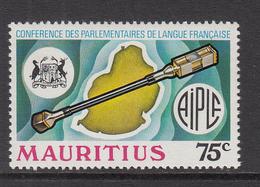 1975 Mauritius Conference Parliamentary Assoc. Mace, Map Emblem Set Of  1 MNH - Mauritius (1968-...)