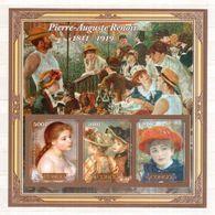 CONGO  Painting, Renoir  Sheetlet Imperf. - Fantasie Vignetten