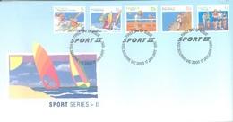 AUSTRALIA  - FDC - 21.2.1989 - SPORT - Yv 1140-1144 - Lot 18658 - Premiers Jours (FDC)