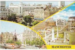 Postcard - Manchester - 3 Views - Card No. PLX19457 - VG - Cartes Postales