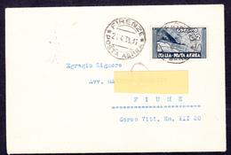 Vittorio Emanuele III  1934  Espresso Aereo  N°73 Su Busta - Storia Postale (Posta Aerea)