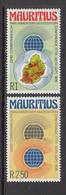 1976 Mauritius Parliamentary Assoc. Conference  Emblem, Map Set Of 2 MNH - Mauritius (1968-...)