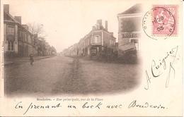 BOULOIRE (72) Rue Principale , Vue De La Place En 1903 (Dos Non Divisé) - Bouloire
