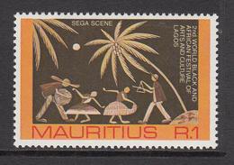 1977 Mauritius Black & African Festival Lagos Set Of 1 MNH - Mauritius (1968-...)
