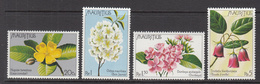 1977 Mauritius Flowers  Set Of 4 MNH - Mauritius (1968-...)