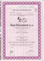 Euro Disneyland S.C.A.  Eurodisney,aandeel Met Coupons Coupure Van 10 - Tourism