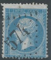 Lot N°45578  Variété/n°22 Bord De Feuille, Oblit GC 574 Bourges, Cher (17), Piquage - 1862 Napoleon III