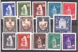 Croatie - 1943 - Deux Séries Complètes - Timbres Neufs * - Front Du Travail - Croix-Rouge - Cote +20 - Timbres