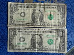 2 BILLETS DE 1 DOLLAR 1995 ET 2003 - WASHINGTON - Washington
