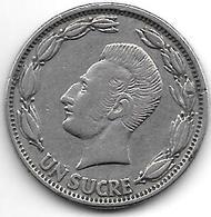 *ecuador 1 Sucre  1964  Km 78b - Equateur
