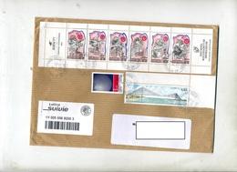 Lettre Suivie Saint Etienne Grand Poste Sur Carnet Celebrités  Pont - Poststempel (Briefe)