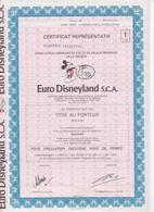 Euro Disneyland S.C.A.  Eurodisney,aandeel Zonder Coupons - Tourism