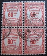 R1703/658 - 1908 - TIMBRES TAXE - (BLOC) N°48 ☉ CàD : SAINT CLAUDE SUR BIENNE (Jura) 11 AOÛT 1926 - Cote : 24,00 € - Taxes