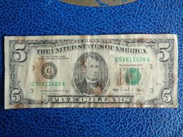 BILLET DE 5 DOLLARS 1988 - LINCOLN - Washington