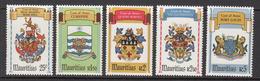 1981 Mauritius City Coats Of Arms Set Of 5  MNH - Mauritius (1968-...)