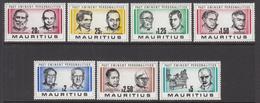 1981 Mauritius Famous Men Set Of 7  MNH - Mauritius (1968-...)