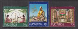 1981 Mauritius Tamil Culture Conference Set Of 3  MNH - Mauritius (1968-...)