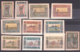 Azerbaïdjan - 1919 - N° 18 à 27 + N° 55 (surchargé) - Neufs * - Timbres
