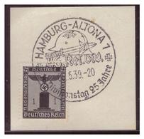 Dt-Reich (007266) Sonderstempel Auf Briefstück, Hamburg- Altona, 46.Res.Div, Divisionstag 25 Jahre, Gestempelt Am 5.1939 - Deutschland
