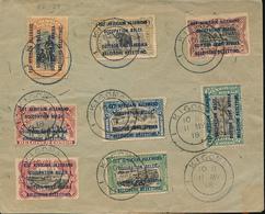 GEA RUANDA URUNDI 1916 ISSUE SET ON UNCIRCULATED COVER KIGOMA 1916 - Ruanda-Urundi