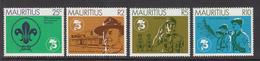 1981 Mauritius Scouting Year Emblem, Baden-Powell, Salute Set Of 4  MNH - Mauritius (1968-...)