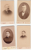 Lot 4 CDV 50 Portraits 2 Femmes 2 Hommes Photographe Godard Granville Ca 1874 - Foto's