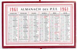 Calendrier Cartonné Almanach Des PTT 1961. - Calendars