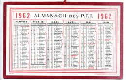 Calendrier Cartonné Almanach Des PTT 1962. - Calendriers
