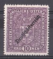 Autriche - 1918/19 - N° 187 - Neuf * - Surchargé - 1918-1945 1. Republik