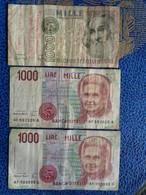 ITALIE 3 X 1000 LIRE 1982 & 1990 X 2 - 1000 Lire