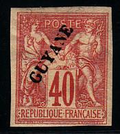 GUYANE - N° 13* - Sans Point Après Guyane - Charnière Papier - Très Frais. - Guyane Française (1886-1949)