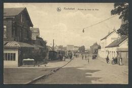 +++ CPA - ROCHEFORT - Arrivée Du Tram De Han - Taverne Biron - Nels   // - Rochefort