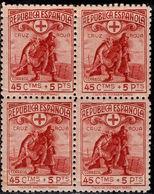 España 1938. Cruz Roja Española Bloque De 4. Ed 767. MNH.**. - 1931-50 Nuevos & Fijasellos
